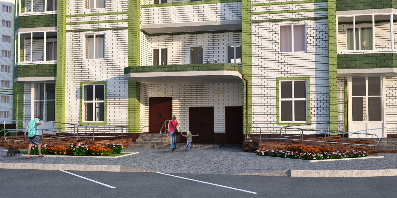 7dad95ef1f130 В строящемся доме 56 квартир, однокомнатных - 18, двухкомнатных - 23,  трехкомнатных -15 шт. с современными планировочными решениями с просторными  кухнями и ...